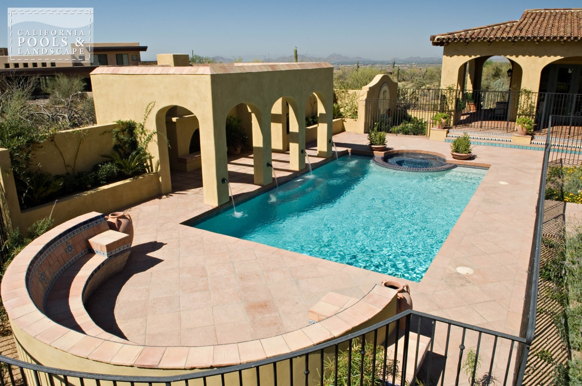 Arizona In-ground Swimming Pool Builders - <i>Pool, Special Items, Tuscan</i>
