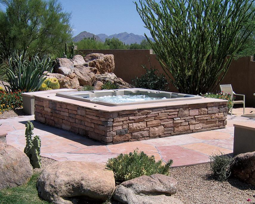 in ground acrylic spas california pools landscape