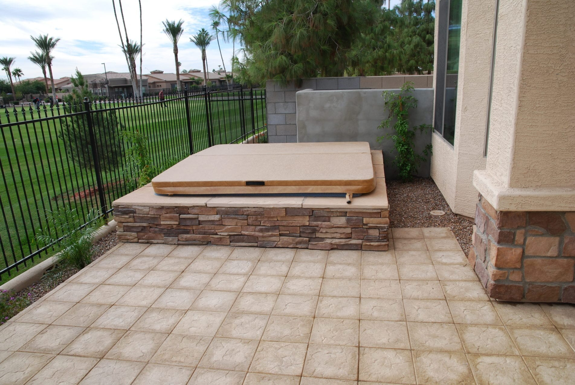 Outdoor Hot Tub Embedded