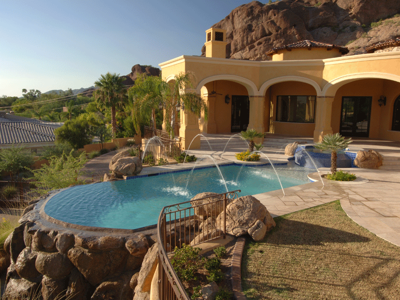 Top az pool builder california pools landscape for Pool builders in az
