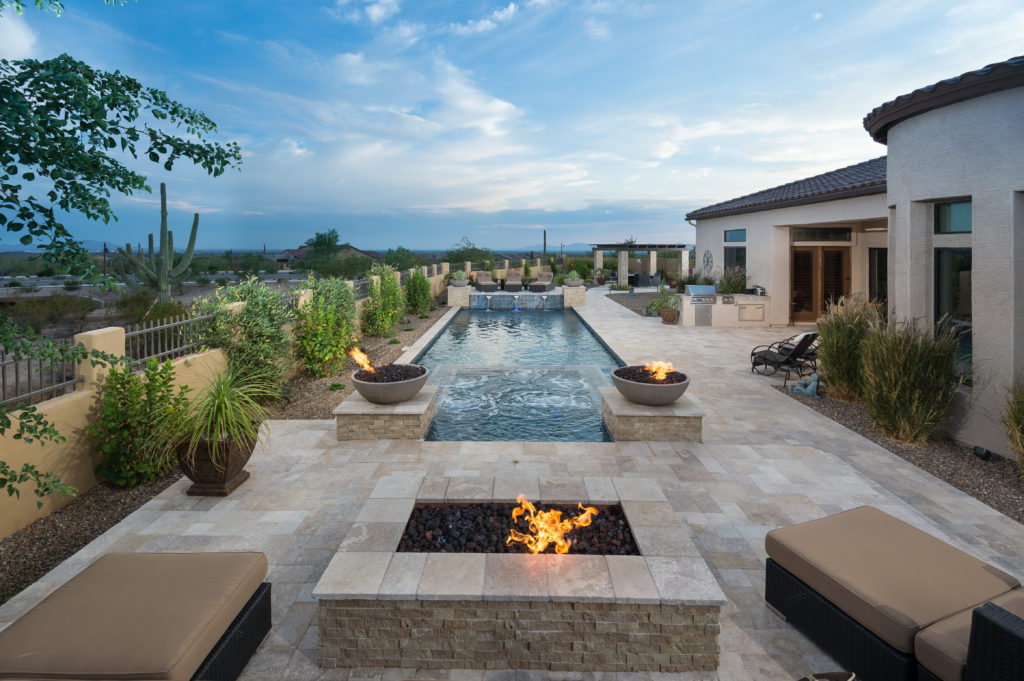 Arizona Backyard Design Fire Pit