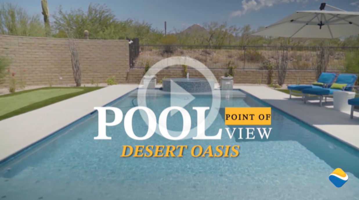 Pool Point of View Desert Oasis Video Cover