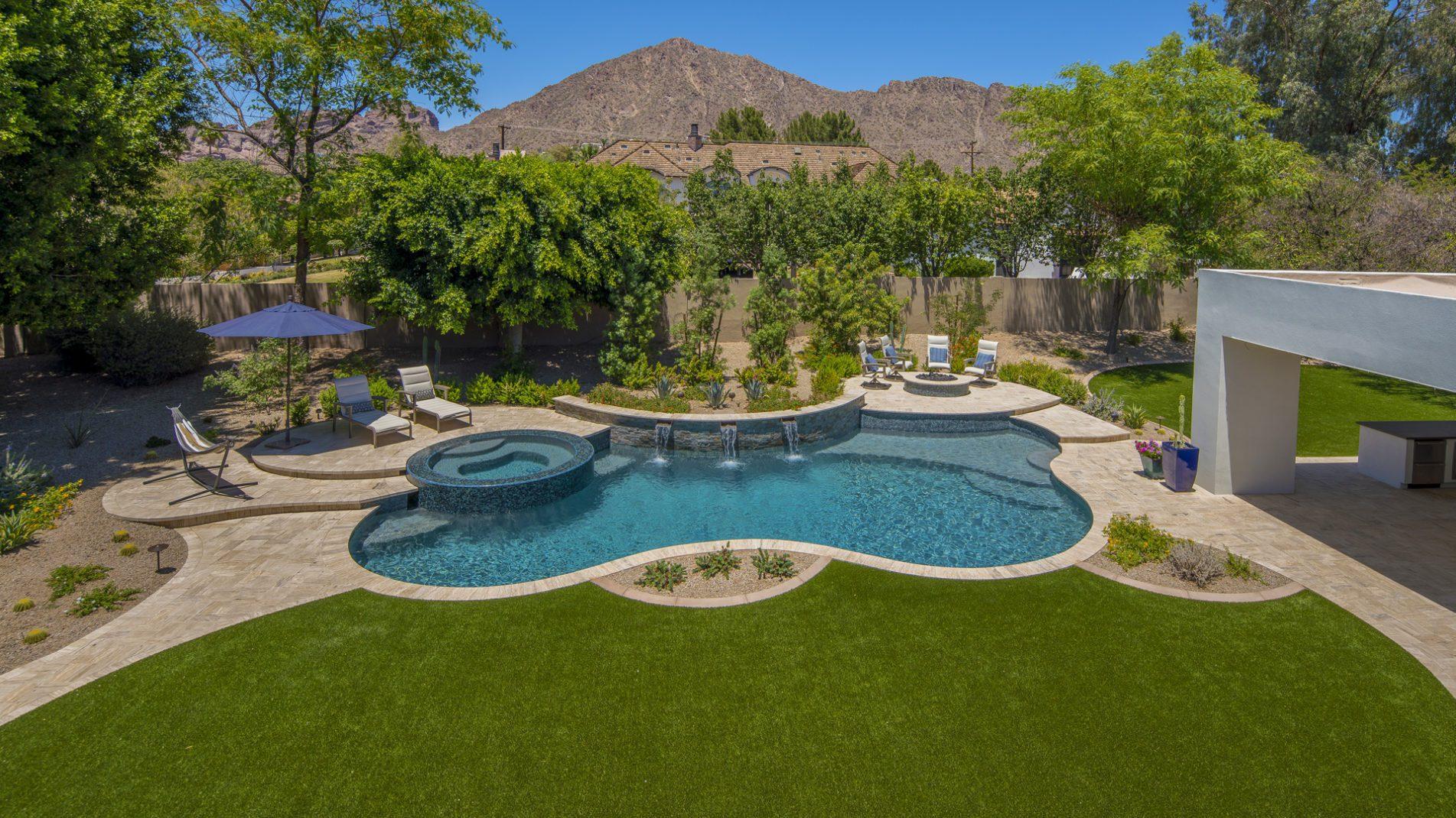 Pool Design Ideas Freeform Tiered Treasure California Pools Landscape
