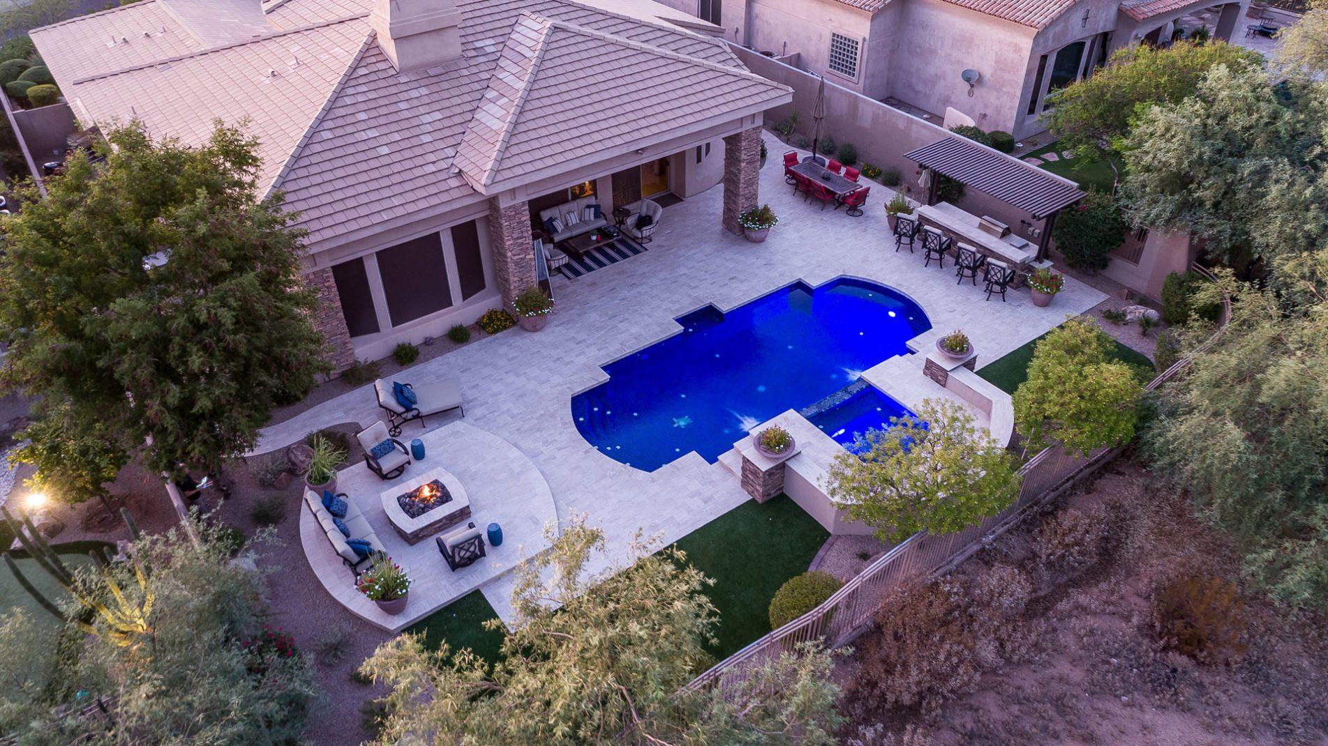 Scottsdale Phoenician Grecian Drone View