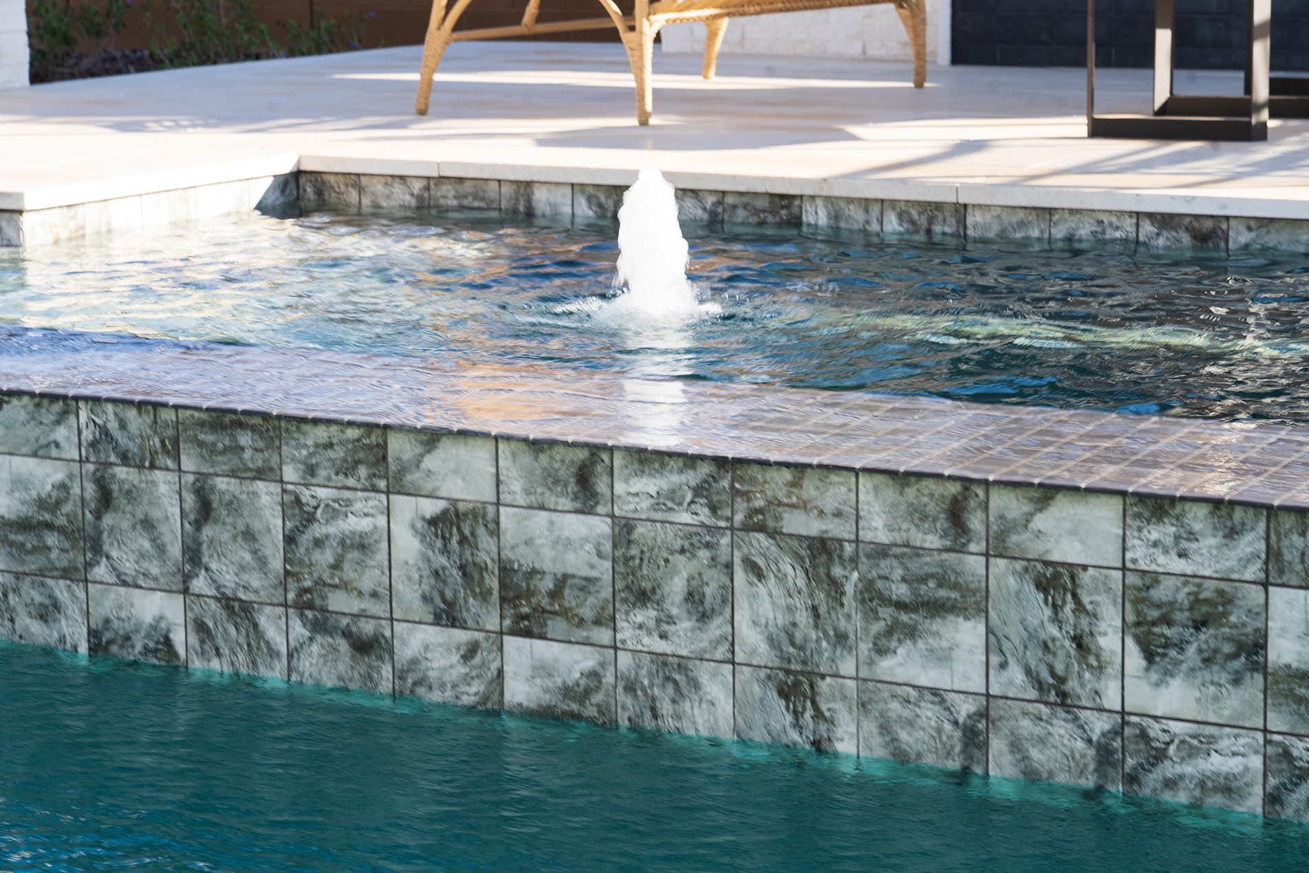 Pool Point Of View - Modern Classic Style In Sedella Water Feature