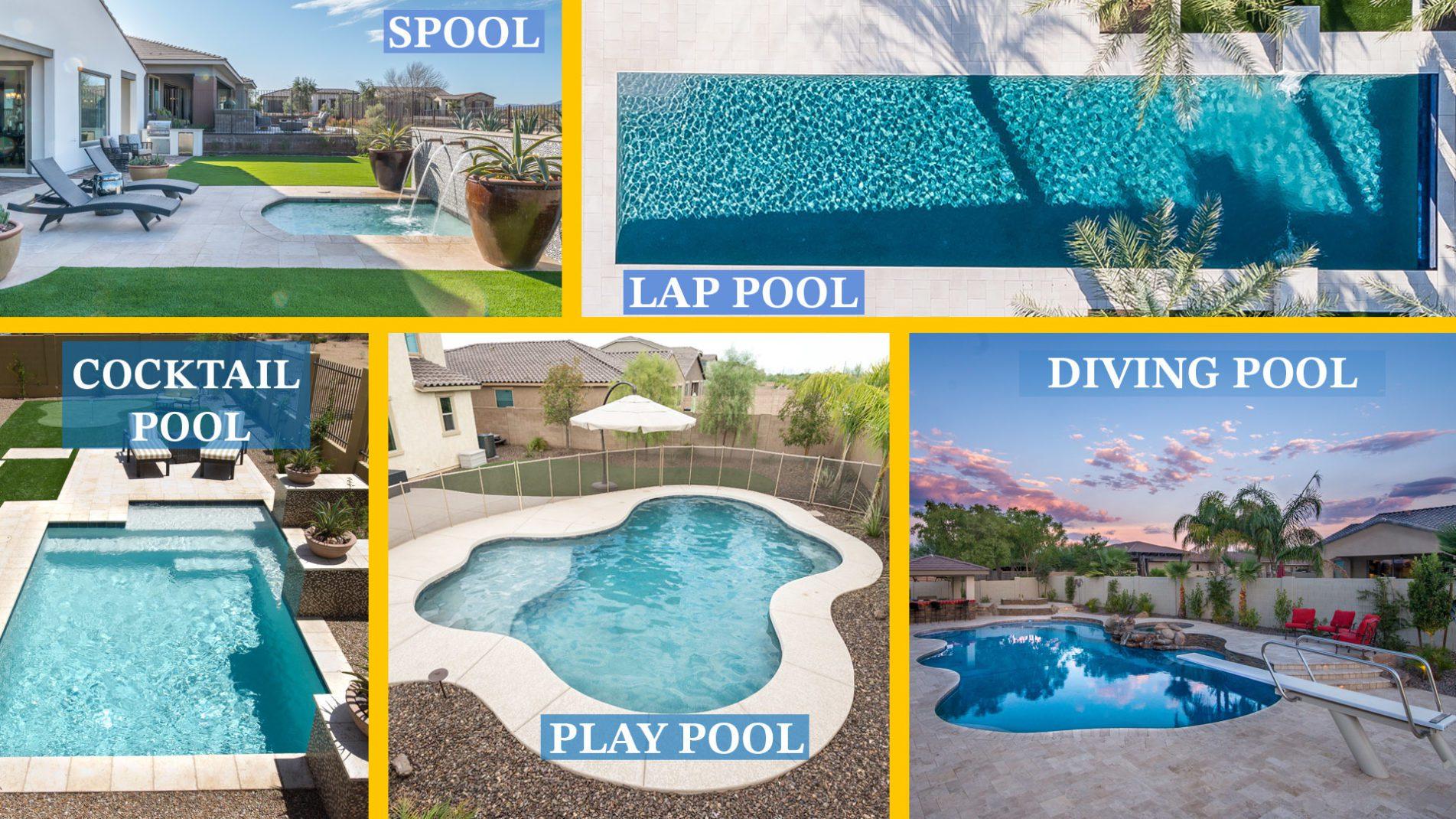 Spool vs Lap Pool vs Cocktail Pool vs Play Pool vs Diving Pool