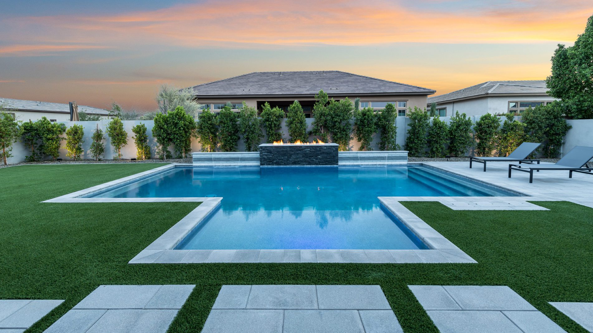 Chandler Contemporary Swimming Pool Landscape View