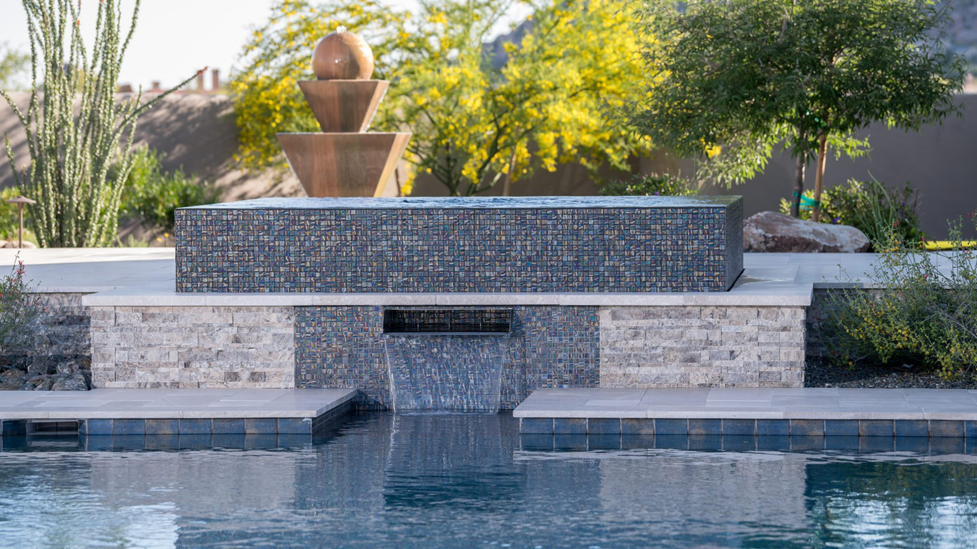Scottsdale Sanctuary Swimming Pool Water Features