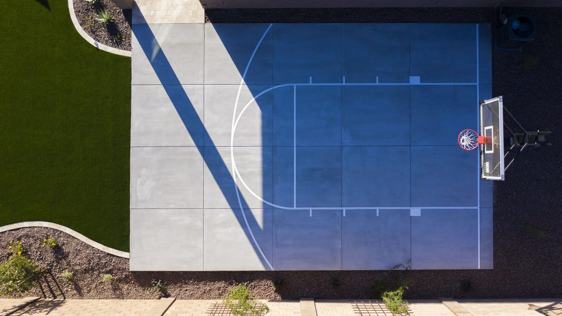Pool Point Of View - Sedella Spa & Sport Basketball Half Court