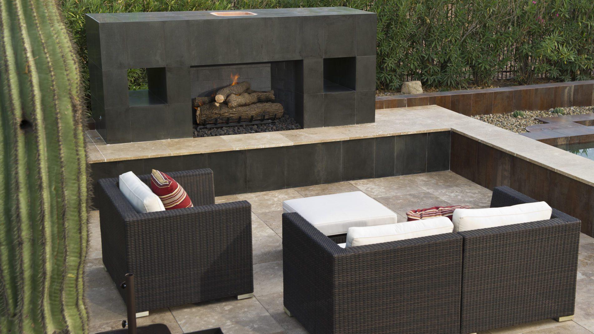Camelback, Concrete & Copper Ultimate Backyard