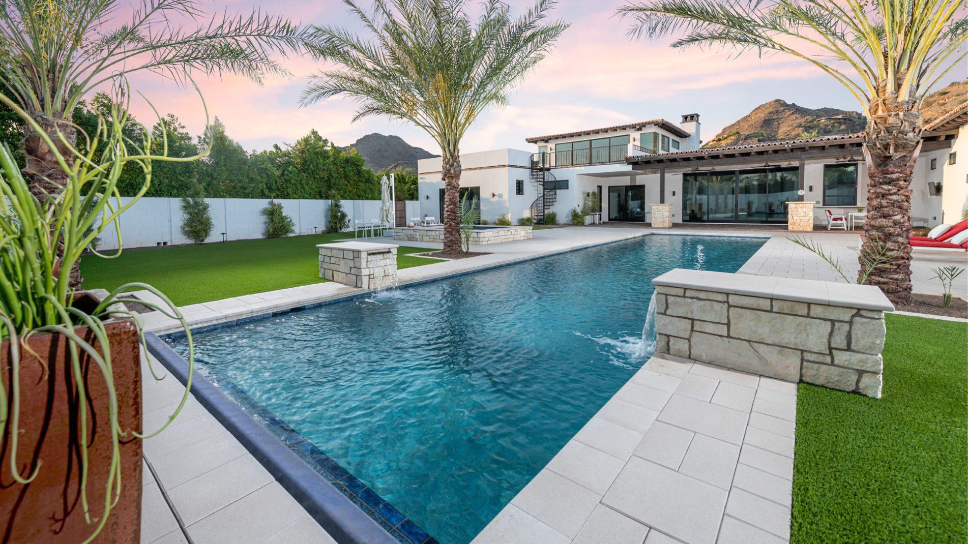 Pool Laps In Paradise