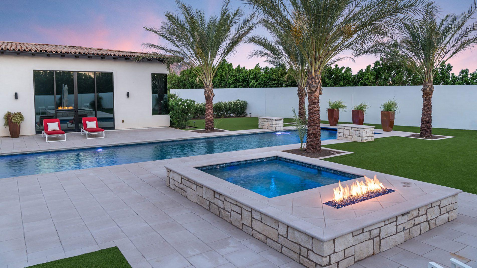 Swimming Pool Laps In Paradise